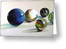 Man With Glass Balls  Greeting Card