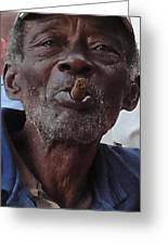 Man With Sigar Greeting Card