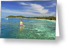 Mana Island Lagoon Greeting Card