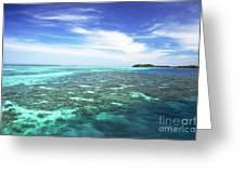 Mana Island Waters Greeting Card