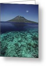 Manado Tua Island Greeting Card