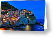 Manarola - Cinque Terre In Widescape Greeting Card