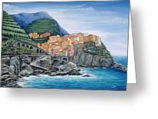 Manarola Cinque Terre Italy Greeting Card