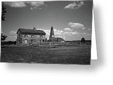 Manassas Battlefield Farmhouse 2 Bw Greeting Card