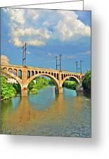 Manayunk Bridge Greeting Card