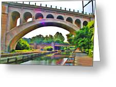 Manayunk Canal Greeting Card