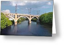 Manayunk Rail Road Bridge Greeting Card