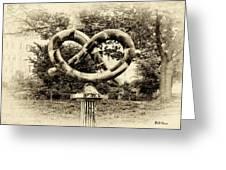 Manayunks Pretzel Park Greeting Card