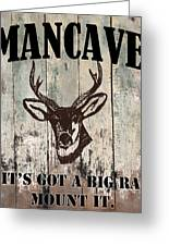 Mancave Deer Rack Greeting Card