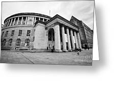 Manchester Central Library England Uk Greeting Card