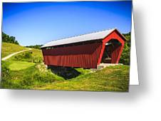 Manchester  Covered Bridge Greeting Card