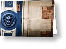 Manchester Doorway Greeting Card