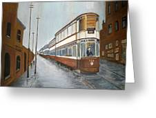 Manchester Piccadilly Tram Greeting Card