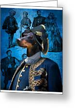 Manchester Terrier Art Canvas Print - Duc Greeting Card