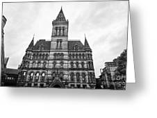 Manchester Town Hall England Uk Greeting Card