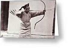 Manchu Archer, 1874 Greeting Card