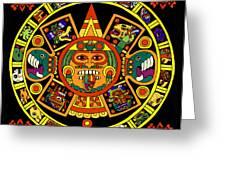 Mandala Azteca Greeting Card