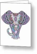 Mandala Elephant Indigo Greeting Card