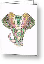 Mandala Elephant Psicodelic Greeting Card
