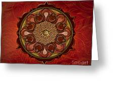 Mandala Flames Sp Greeting Card by Bedros Awak