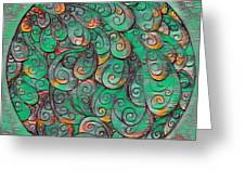 Mandala In Green Greeting Card