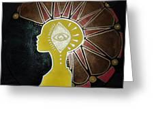 Mandala Mohawk  Greeting Card
