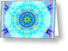 Mandala Of Womans Spiritual Genesis Greeting Card