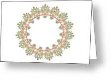 Mandala/photoart Orange Flowers-1 Greeting Card