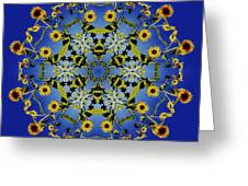 Mandala Sunflower Greeting Card