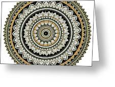 Black And Gold Mandala Greeting Card