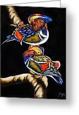 Mandarin Ducks - Sa106 Greeting Card
