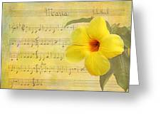 Mandevilla And Maria Greeting Card