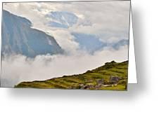 Nandi Devi Mountain - Himalayas Greeting Card