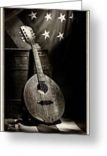 Mandolin America Antique Greeting Card by Barry C Donovan