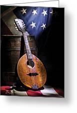 Mandolin America Greeting Card by Barry C Donovan