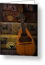 Mandolin And Suitcases Greeting Card