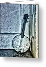 Mandolin Banjo In The Corner Greeting Card