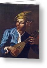 Mandolin Player Greeting Card