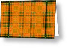 Mandoxocco-wallpaper-orange-green Greeting Card