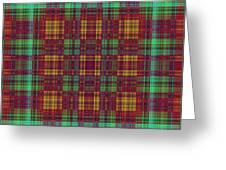 Mandoxocco-wallpaper-red-green Greeting Card