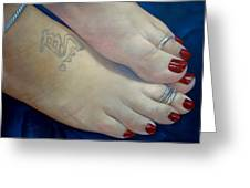 Mandys Toes Greeting Card
