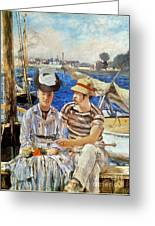 Manet: Boaters, 1874 Greeting Card