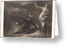 Manfred And Astarte (2nd Plate) Greeting Card