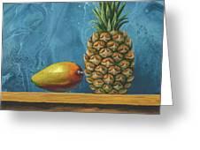 Mango And Pineapple Greeting Card