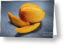 Mango And Slices Greeting Card