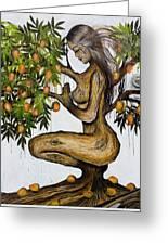 Mango Lady Greeting Card