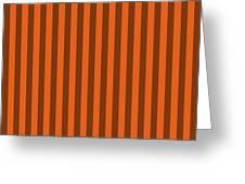 Mango Orange Striped Pattern Design Greeting Card