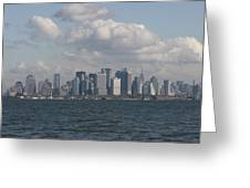 Manhattan And Governors Island Greeting Card