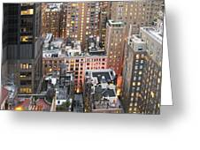 Manhattan At Dusk Greeting Card