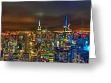 Manhattan At Night 355 Greeting Card
